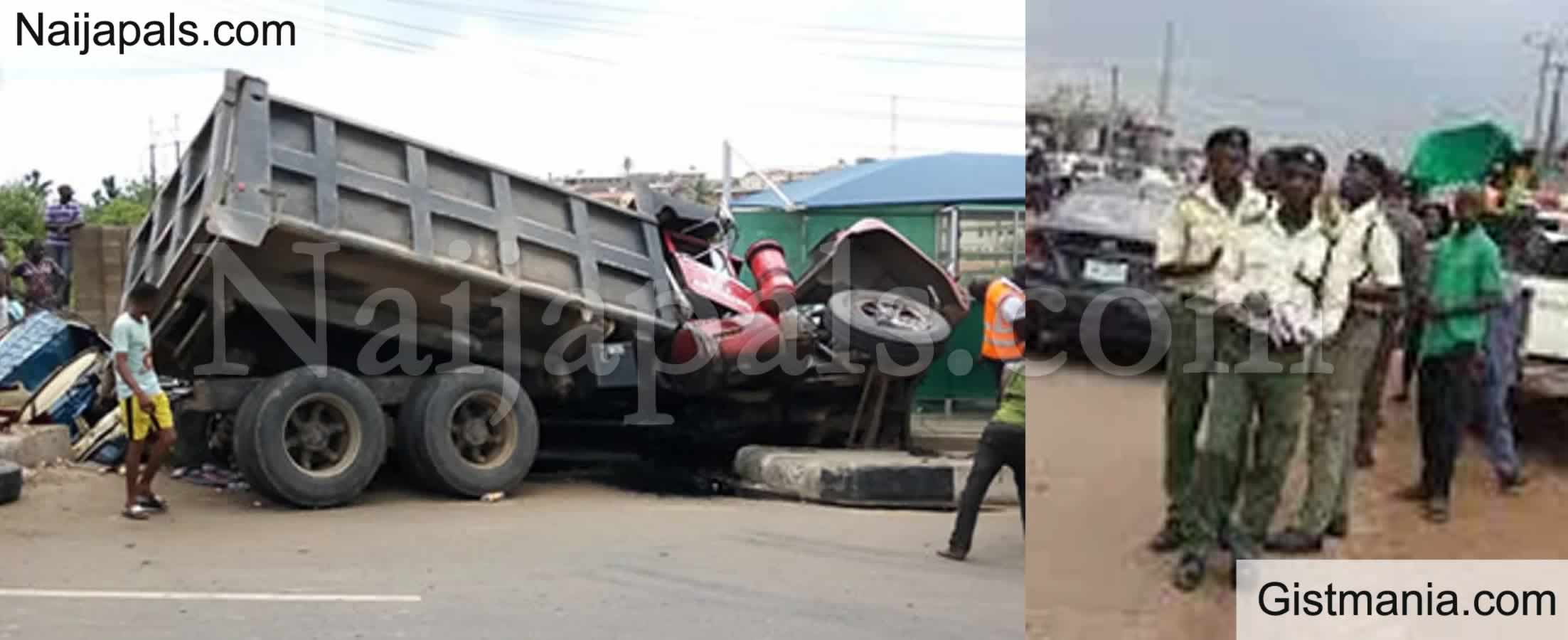 <img alt='.' class='lazyload' data-src='https://img.gistmania.com/emot/cry.gif' /> OH NO! <b>Middle Aged Woman Crushed To Death By Truck in Front of Her Dad's Hotel in Ogun</b>
