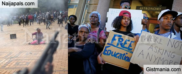 South African Students Go Half Naked In Protest To High Tuition Fees -2547
