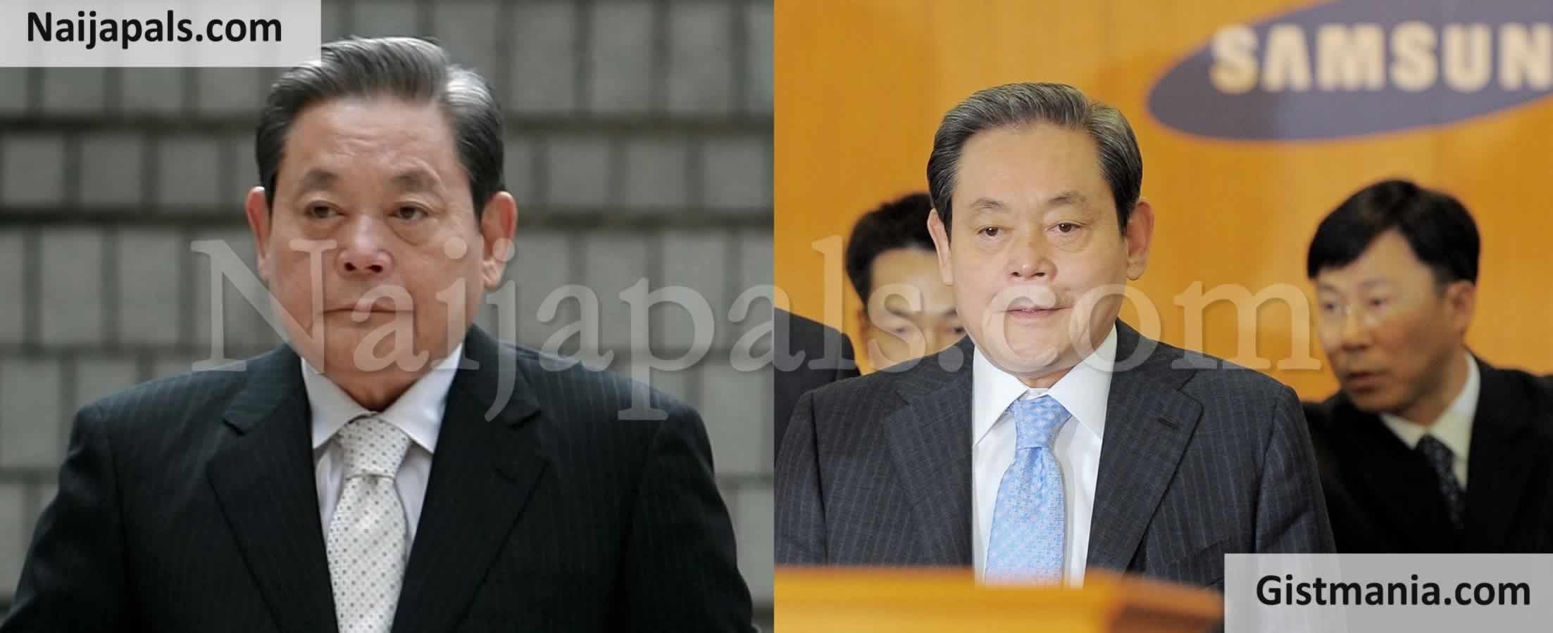 <img alt='.' class='lazyload' data-src='https://img.gistmania.com/emot/news.gif' /> <b>Giant Electronics Company, Samsung's Chairman, Lee Kun-Hee Dies At 85</b>