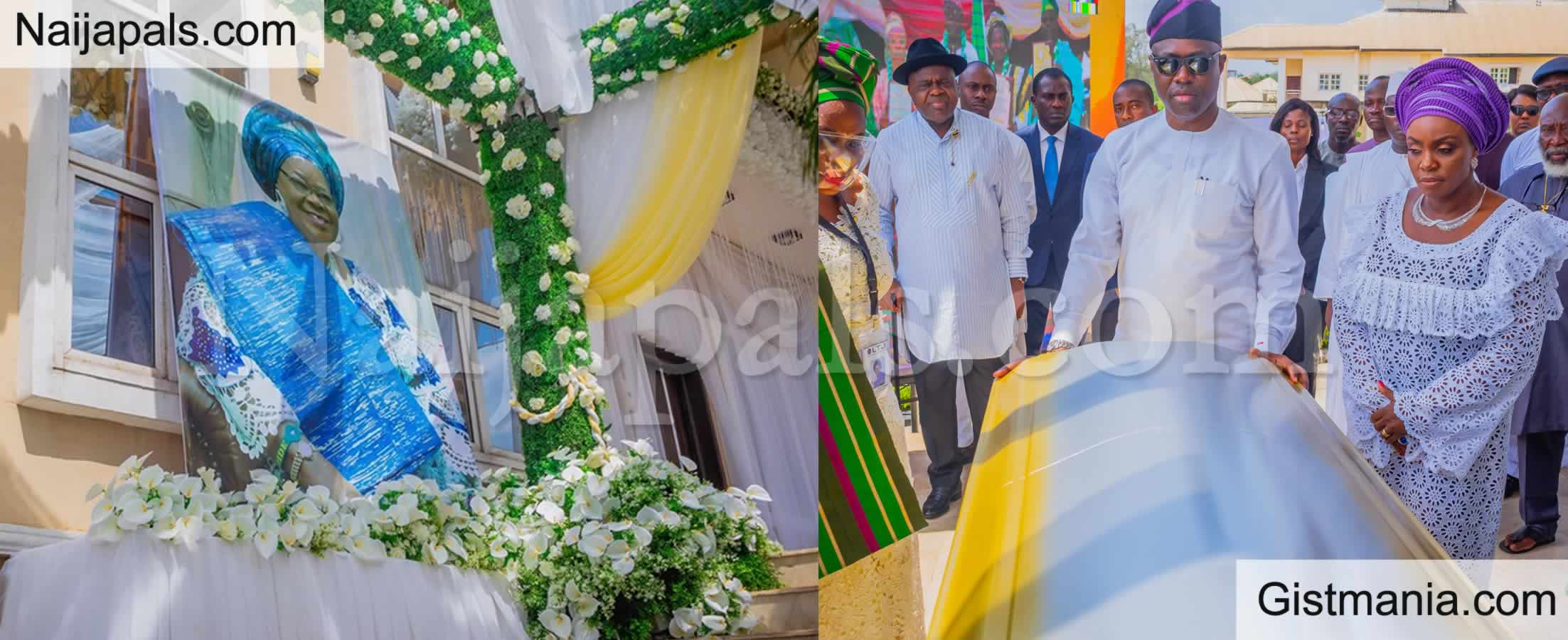 <img alt='.' class='lazyload' data-src='https://img.gistmania.com/emot/photo.png' /> Governors & Dignitaries Storm Ibadan As <b>Governor Seyi Makinde Lays His Mum To Rest</b> (Photos)