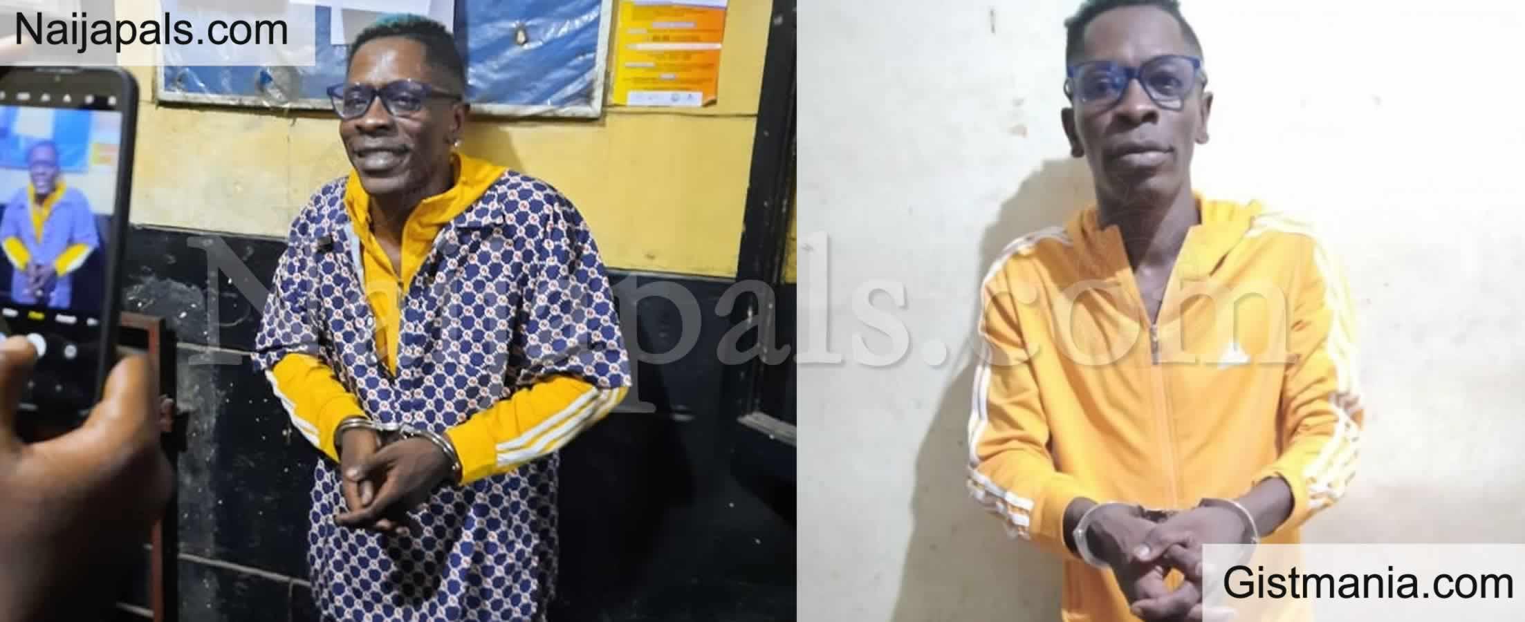 <img alt='.' class='lazyload' data-src='https://img.gistmania.com/emot/video.gif' /> VIDEO:<b> Police Arrest Ghanaian Singer, Shatta Wale For Faking His Shooting</b>