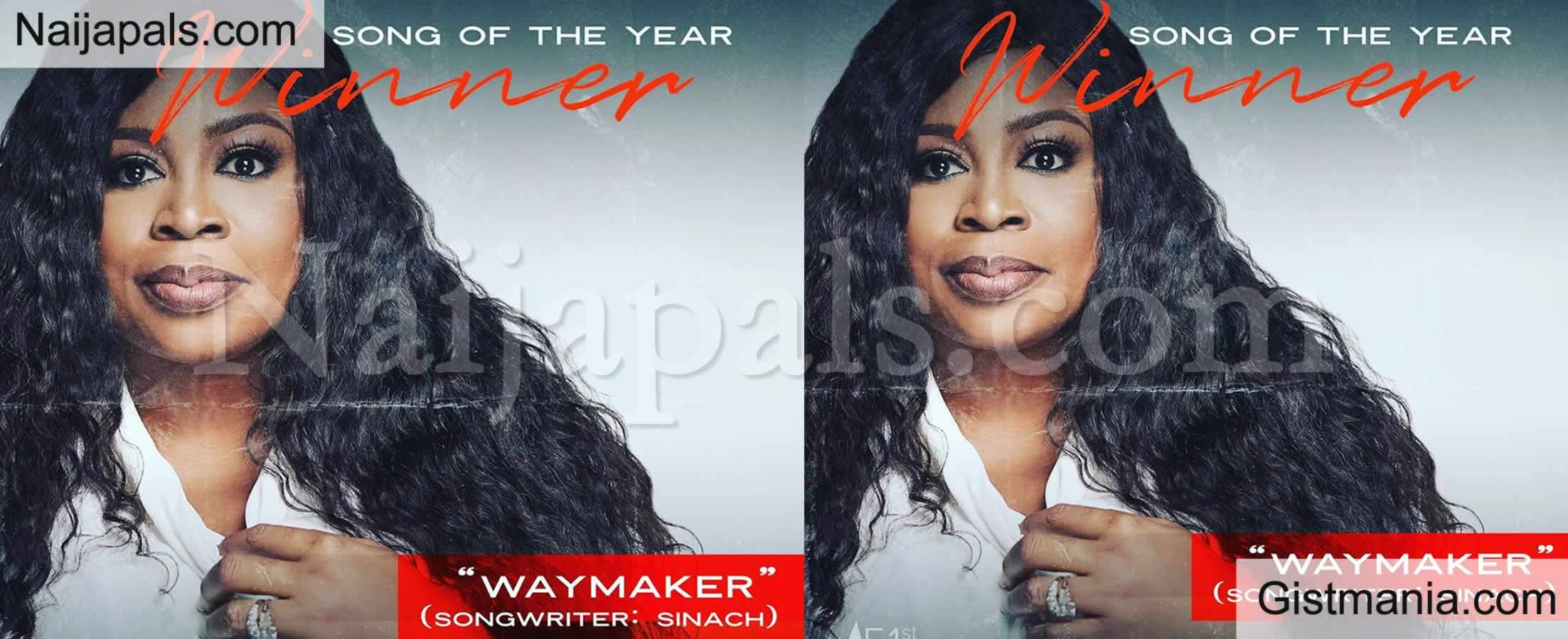 <img alt='.' class='lazyload' data-src='https://img.gistmania.com/emot/thumbs_up.gif' /> <b>Sinach's 'Way Maker' Wins Song Of The Year at The Dove Awards</b>