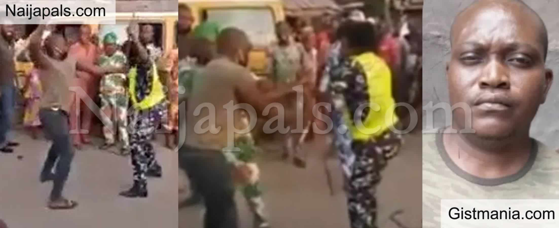 <img alt='.' class='lazyload' data-src='https://img.gistmania.com/emot/video.gif' /> <b>Trouble For Soldier Who Mercilessly Beat Up Uniformed Police Woman in Lagos </b>(Video)