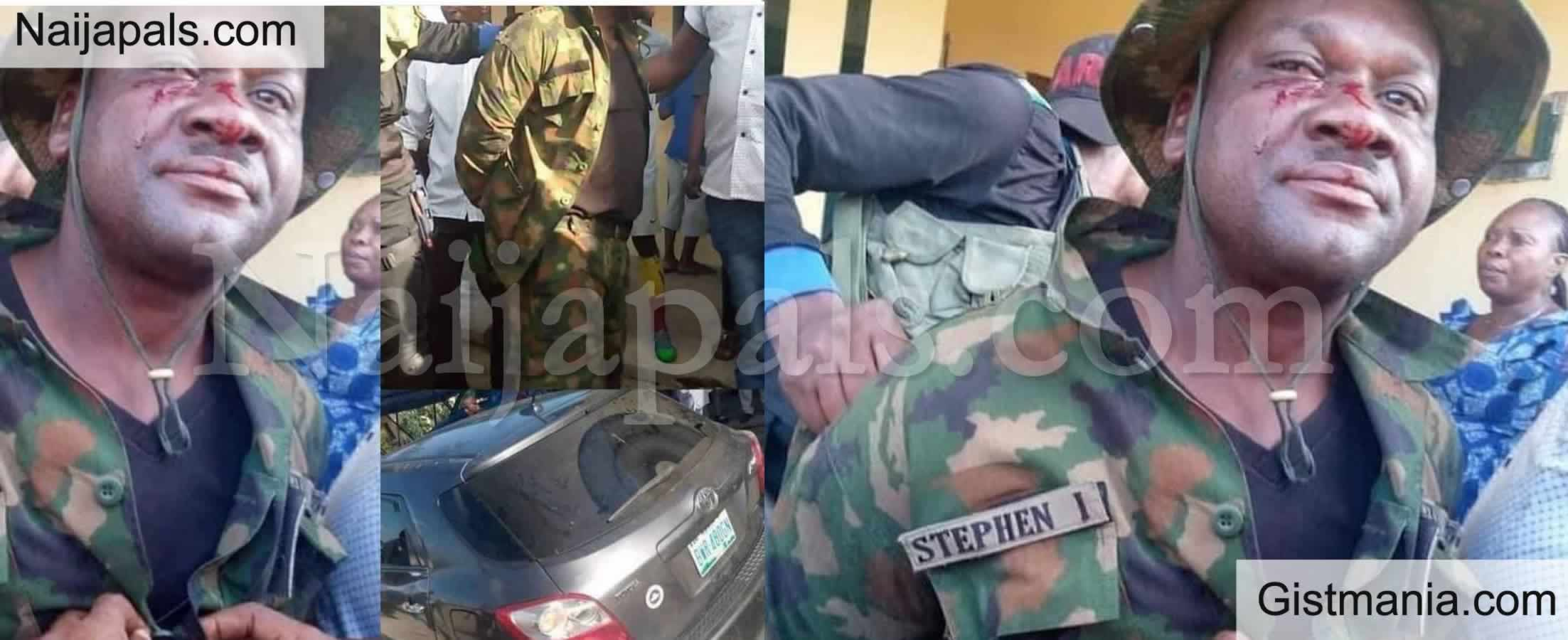 <img alt='.' class='lazyload' data-src='https://img.gistmania.com/emot/shocked.gif' /> <b>Soldier Reportedly Stabs Ibadan Tailor For Disrespecting Him</b>