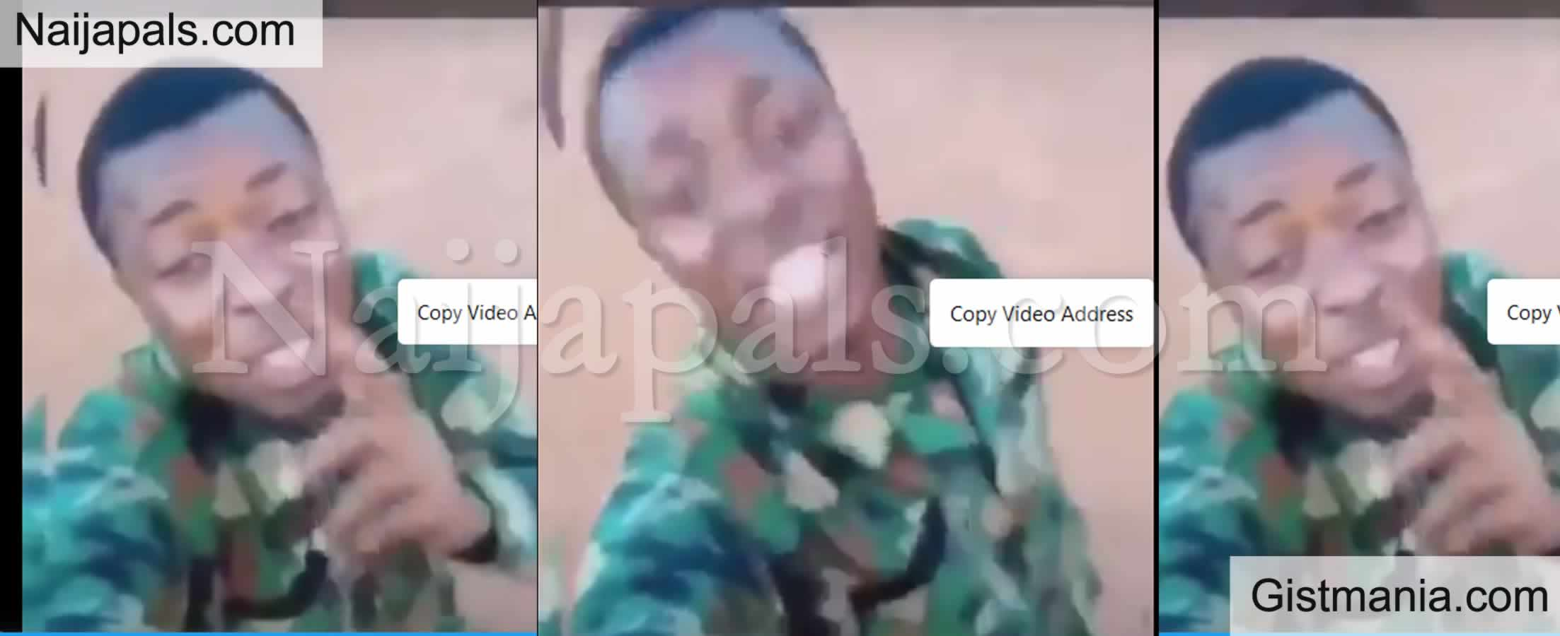 <img alt='.' class='lazyload' data-src='https://img.gistmania.com/emot/video.gif' /> Video: <b>You'll Be In Trouble The Day You Kill Yahoo Soldier - Nigerian Soldier Threaten SARS</b>
