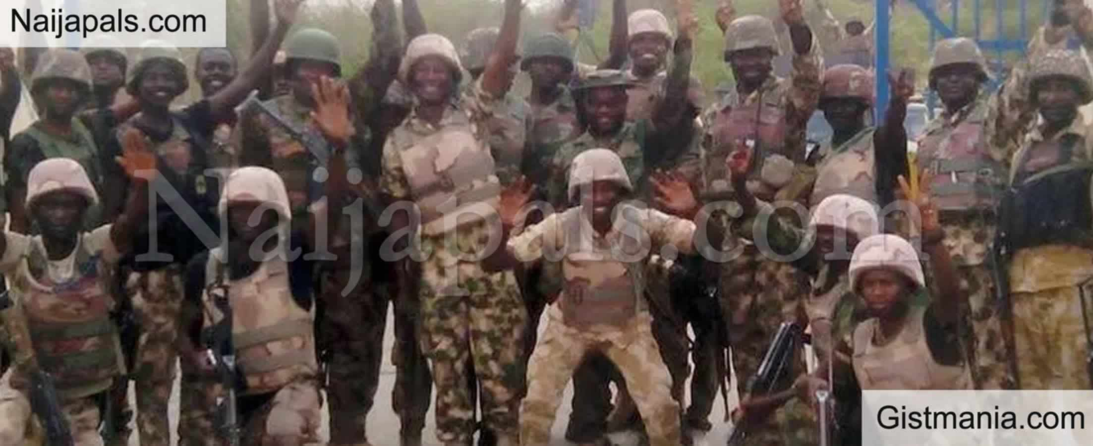 <img alt='.' class='lazyload' data-src='https://img.gistmania.com/emot/thumbs_up.gif' /> Video Of <b>Soldiers Jubilating Over The Removal Of Buratai As Chief Of Army Staff</b>