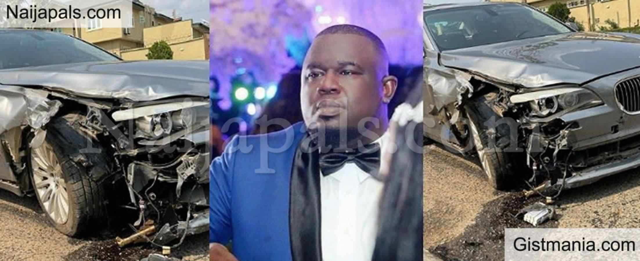 <img alt='.' class='lazyload' data-src='https://img.gistmania.com/emot/comment.gif' /> PHOTOS: <b>Nigerian Music Executive, Soso Soberekon Narrowly Escape Death In An Auto Crash</b>