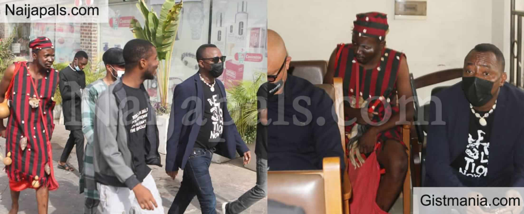 <img alt='.' class='lazyload' data-src='https://img.gistmania.com/emot/news.gif' /> <b>Juju Man Among Ex Presidential Candidate Sowore's' Entourage As He Appears In Court Today </b>