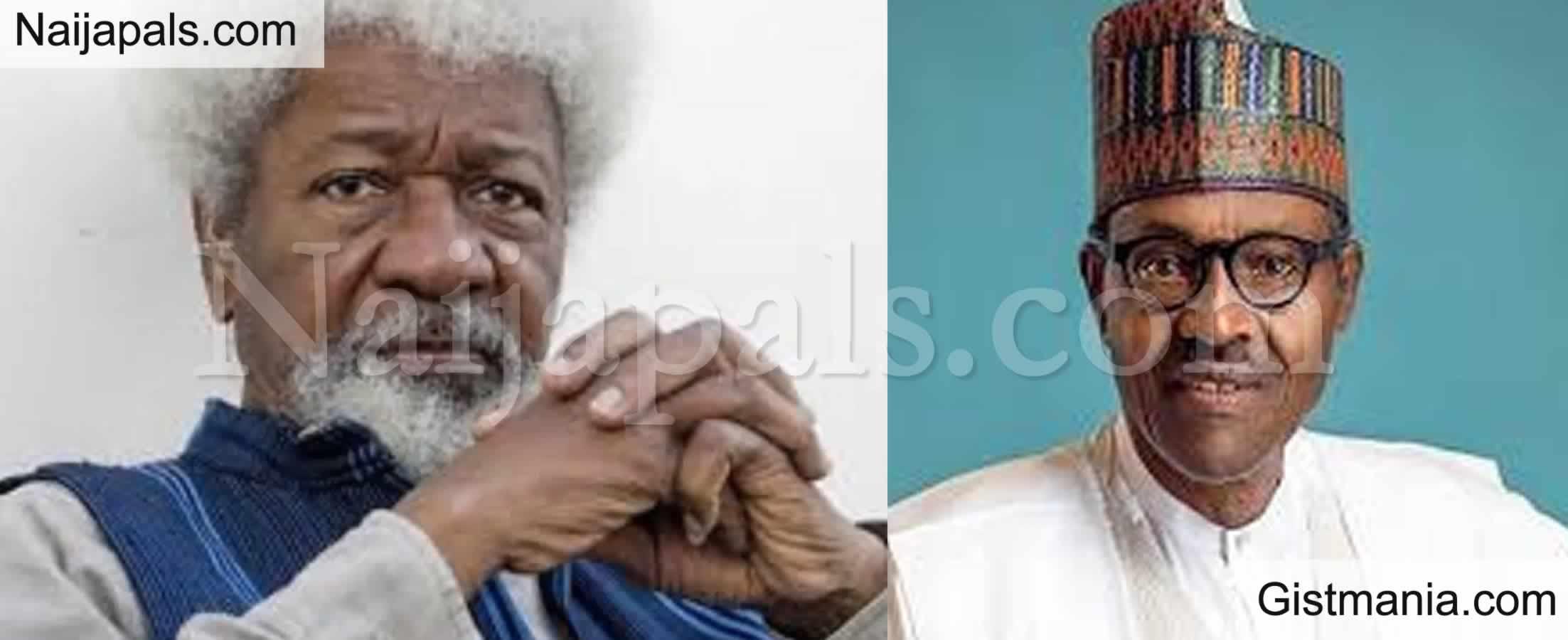 "<img alt='.' class='lazyload' data-src='https://img.gistmania.com/emot/news.gif' /> <b>""Pre. Buhari-Led Administration Is Not Capable To Unite Nigeria"" -Prof. Wole Soyinka Blows Hot</b>"