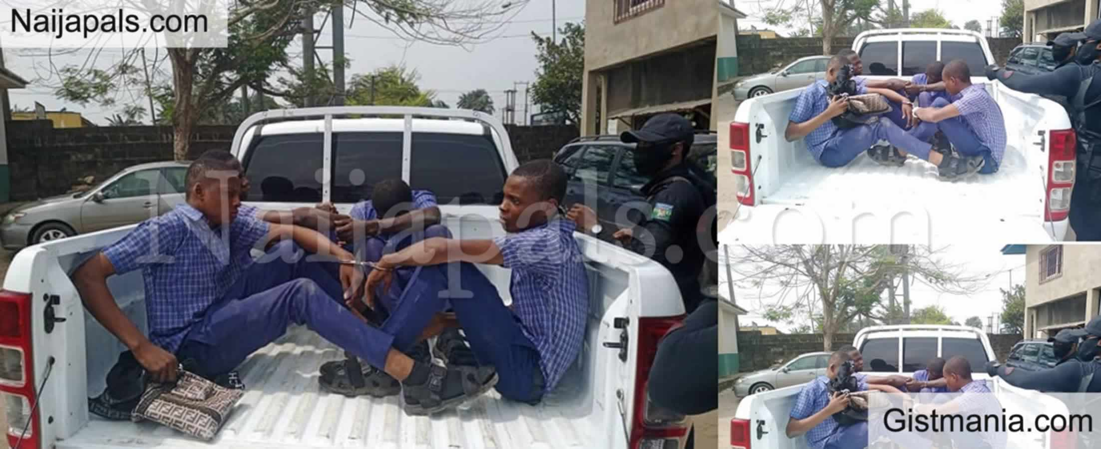 <img alt='.' class='lazyload' data-src='https://img.gistmania.com/emot/comment.gif' /> PHOTOS: <b>Cross River Police Nabbed 4 Four Students Involve In Cultism</b>