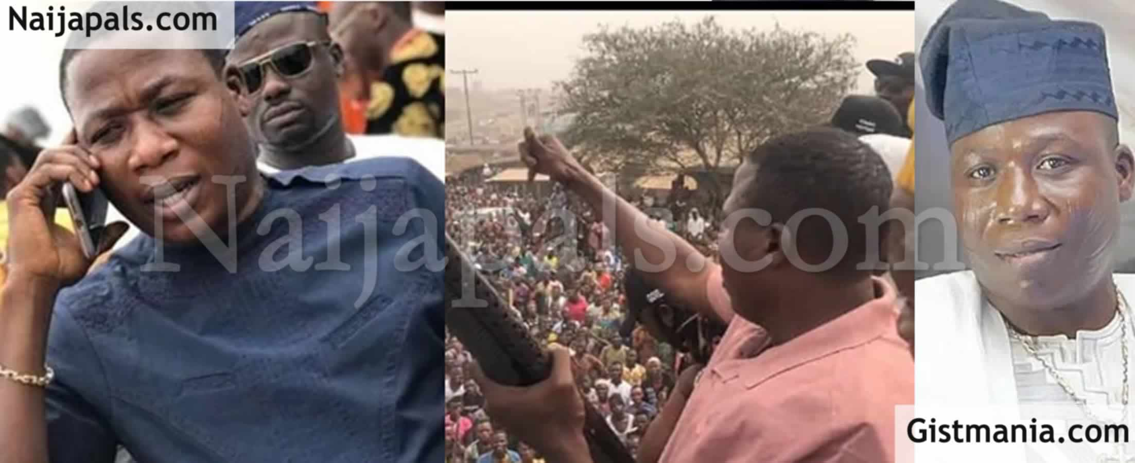 "<img alt='.' class='lazyload' data-src='https://img.gistmania.com/emot/video.gif' /> <b>""I Don't Want Any Herdsman In The Whole Land""</b> - Sunday Igboho Faces Soldiers, Policemen (Video)"