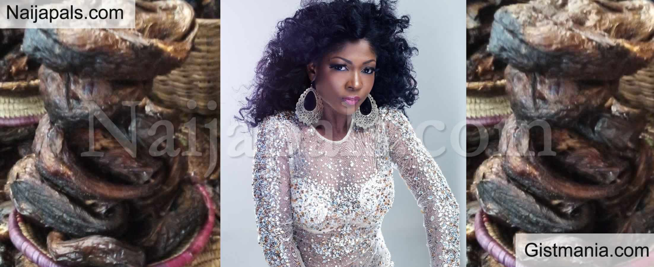 <img alt='.' class='lazyload' data-src='https://img.gistmania.com/emot/shocked.gif' /> Just Like Mofe Duncan, <b>Actress Susan Peters Shows The Dried Fish She Bought For N12k</b> (PICS)