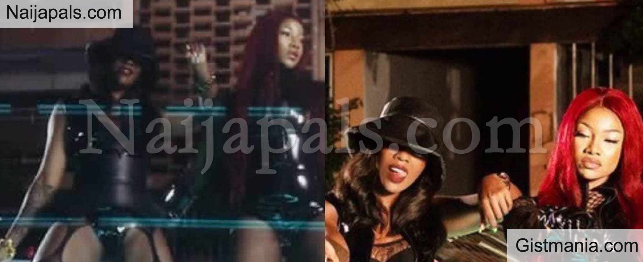 <img alt='.' class='lazyload' data-src='https://img.gistmania.com/emot/comment.gif' /> VIDEO/PHOTOS: <b>BBNaija Star, Tacha Spotted In Tiwa Savage & Naira Marley Music Video 'Ole'</b>