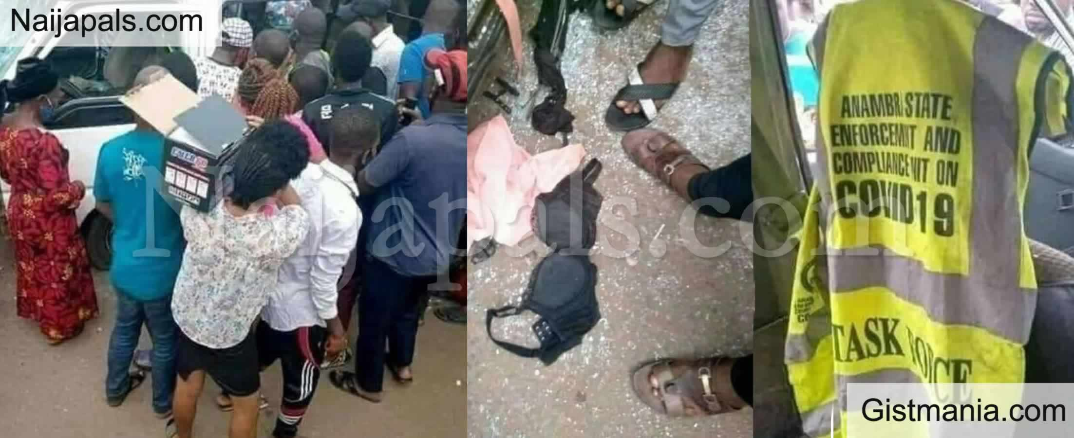 <img alt='.' class='lazyload' data-src='https://img.gistmania.com/emot/shocked.gif' /> PHOTOS: <b>Taskforce Caught Rap!ng a Girl They Arrested For Not Wearing Nose Mask, Inside Their Vehicle</b>