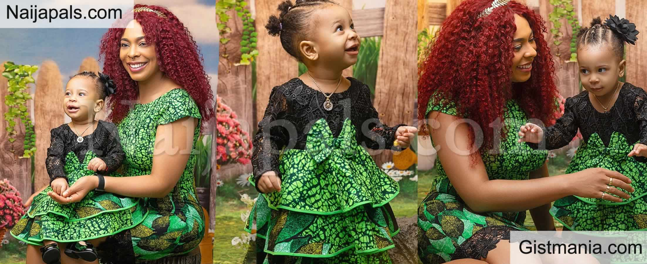 <img alt='.' class='lazyload' data-src='https://img.gistmania.com/emot/rose.gif' /> <b>Tboss And Her Daughter Rocking Matching Ankara in New Cute Photos</b>