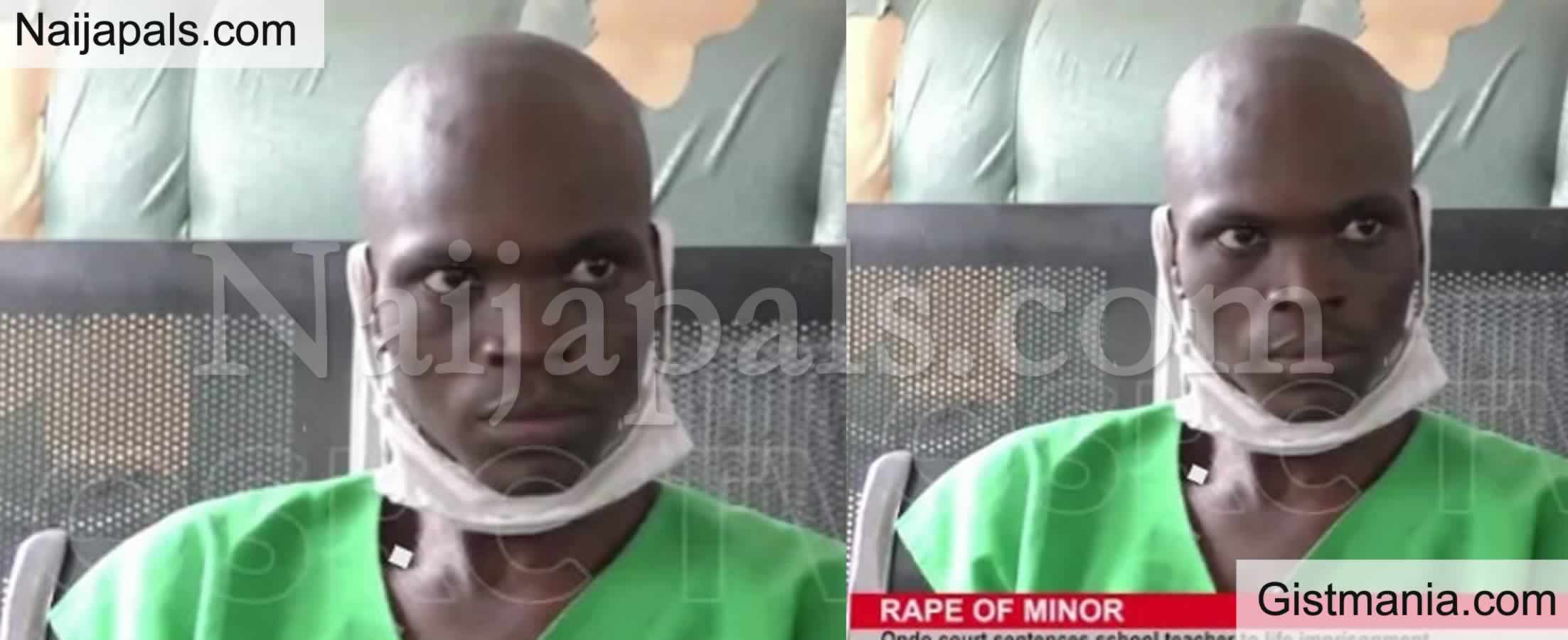 <img alt='.' class='lazyload' data-src='https://img.gistmania.com/emot/news.gif' /> Ondo State Teacher, <b>Omotayo Adanlawo Jailed For Raping His Pastor's 10-Year-Old Daughter</b>