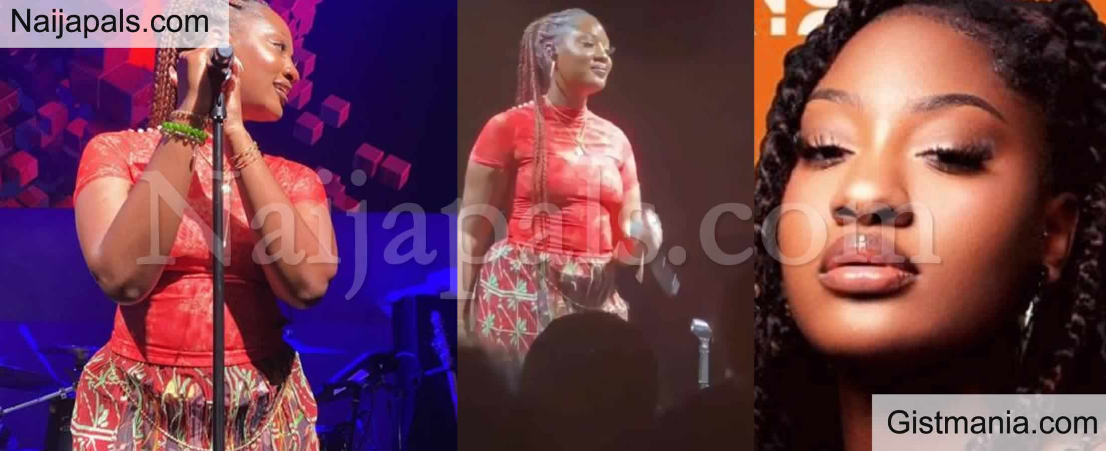 <img alt='.' class='lazyload' data-src='https://img.gistmania.com/emot/video.gif' /> She Has A Heavy Backside - <b>Reactions As Singer Tems Unfolds Her Curves While Performing in NY</b> (VID)