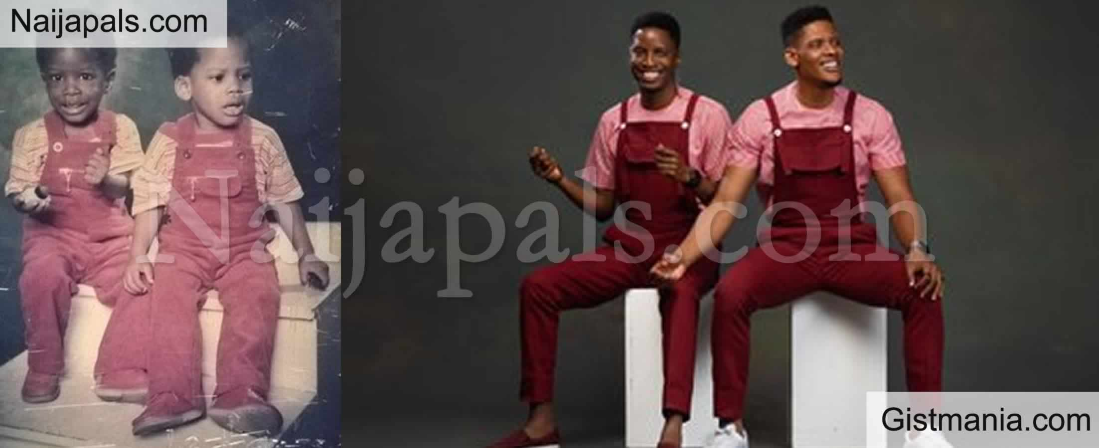 <img alt='.' class='lazyload' data-src='https://img.gistmania.com/emot/photo.png' /> <b>BBNaija Star, Elozonam Recreates Childhood Photos With His Twin Brother On Their 35th Birthday</b>