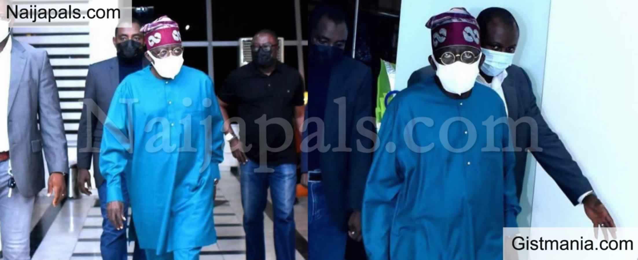 <img alt='.' class='lazyload' data-src='https://img.gistmania.com/emot/photo.png' /> BREAKING: <b>Photos Of Ahmed Tinubu As He Returns To Nigeria Amid Health Fears</b>