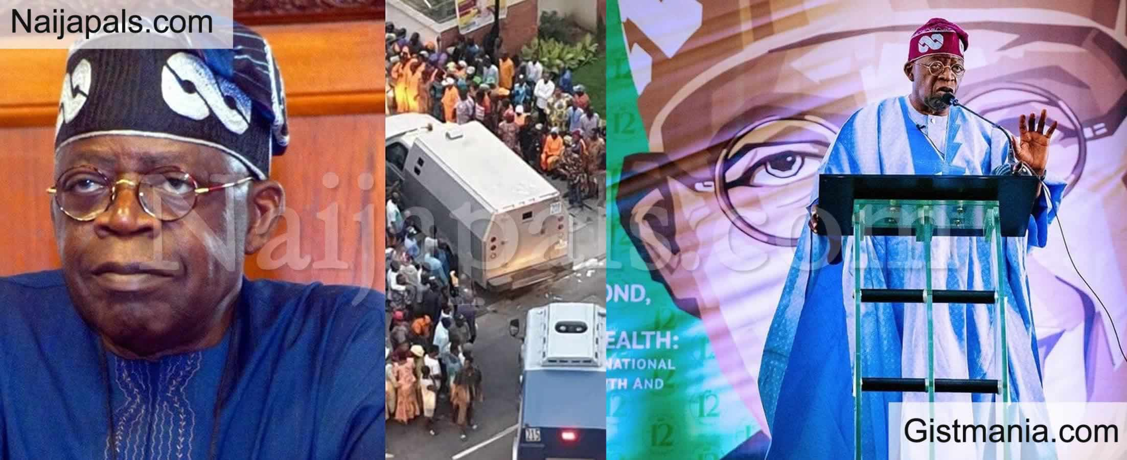 "<img alt='.' class='lazyload' data-src='https://img.gistmania.com/emot/comment.gif' /> <b>""Share Food To The Poor People"" - Tinubu Advise Politicians</b>"