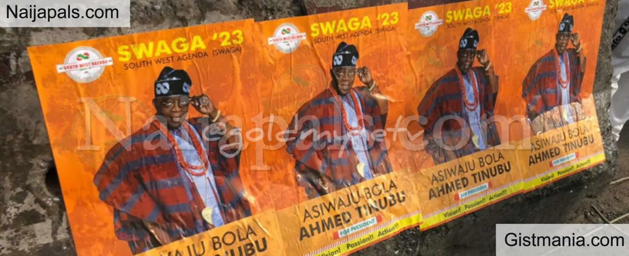 <img alt='.' class='lazyload' data-src='https://img.gistmania.com/emot/comment.gif' /> <b>Asiwaju Ahmed Bola Tinubu's 2023 Presidential Posters Flood Abuja Streets</b>