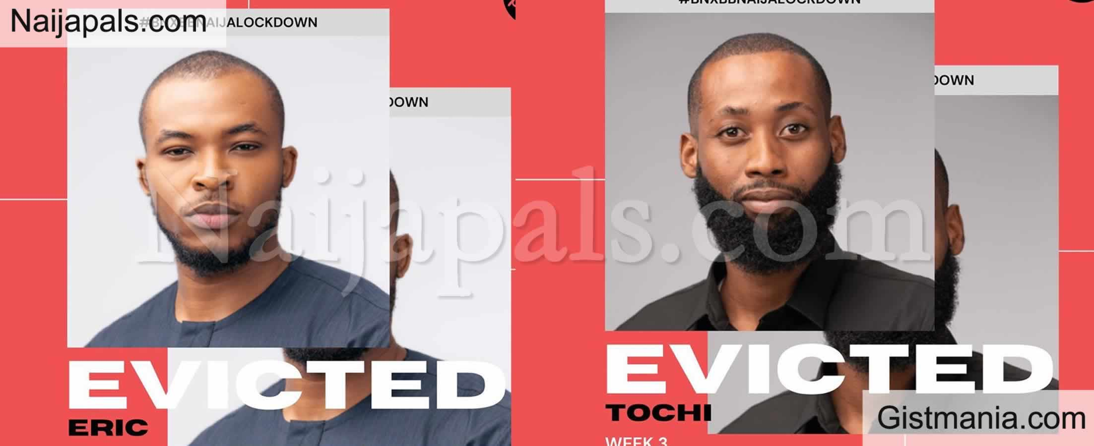 <img alt='.' class='lazyload' data-src='https://img.gistmania.com/emot/comment.gif' /> #BBNaija Day 21! <b>Eric & Tochi Have Been Evicted</b>
