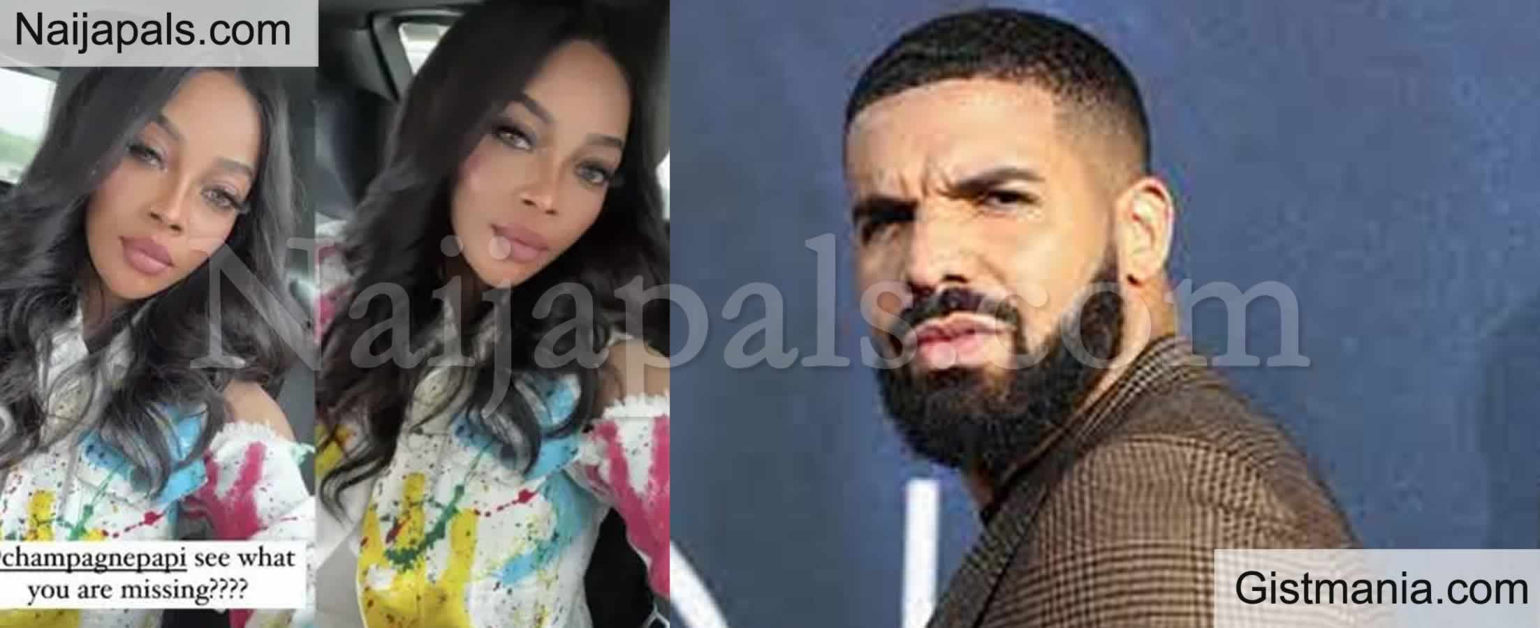 <img alt='.' class='lazyload' data-src='https://img.gistmania.com/emot/photo.png' /> <b>See What You Are Missing – Toke Makinwa Shoots Her Shot At Canadian Rapper, Drake</b>