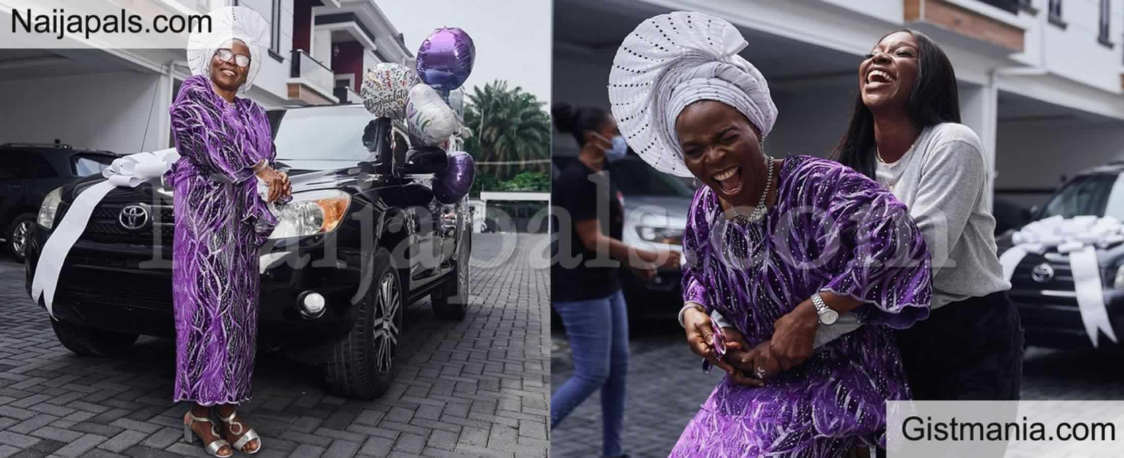 <img alt='.' class='lazyload' data-src='https://img.gistmania.com/emot/thumbs_up.gif' /> Actress and Tv host <b>Tomike Adeoye's Surprises Her Mom With A New Car </b>(PHOTOS)