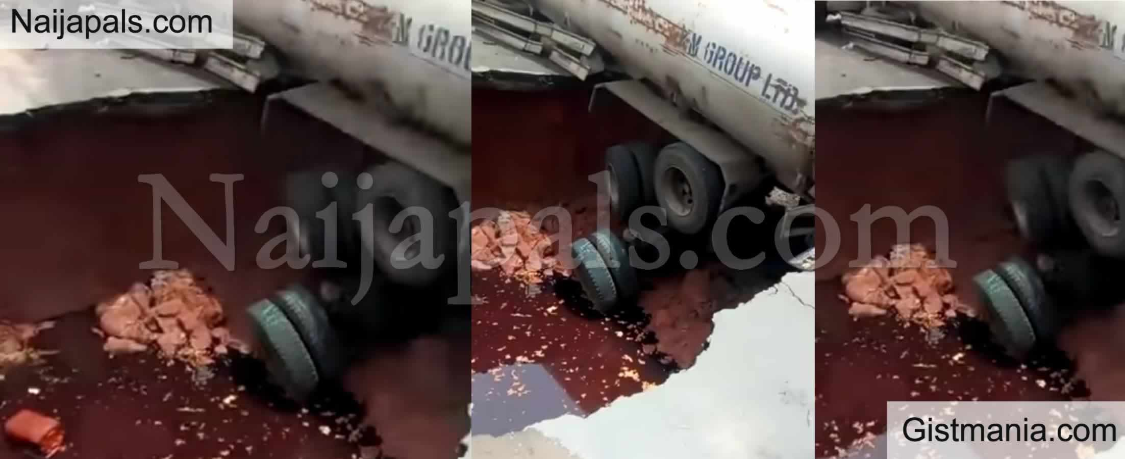 <img alt='.' class='lazyload' data-src='https://img.gistmania.com/emot/shocked.gif' /> <b>Shocking Video Shows A Newly Constructed Road Collapse While Trailer Was Passing on it</b>