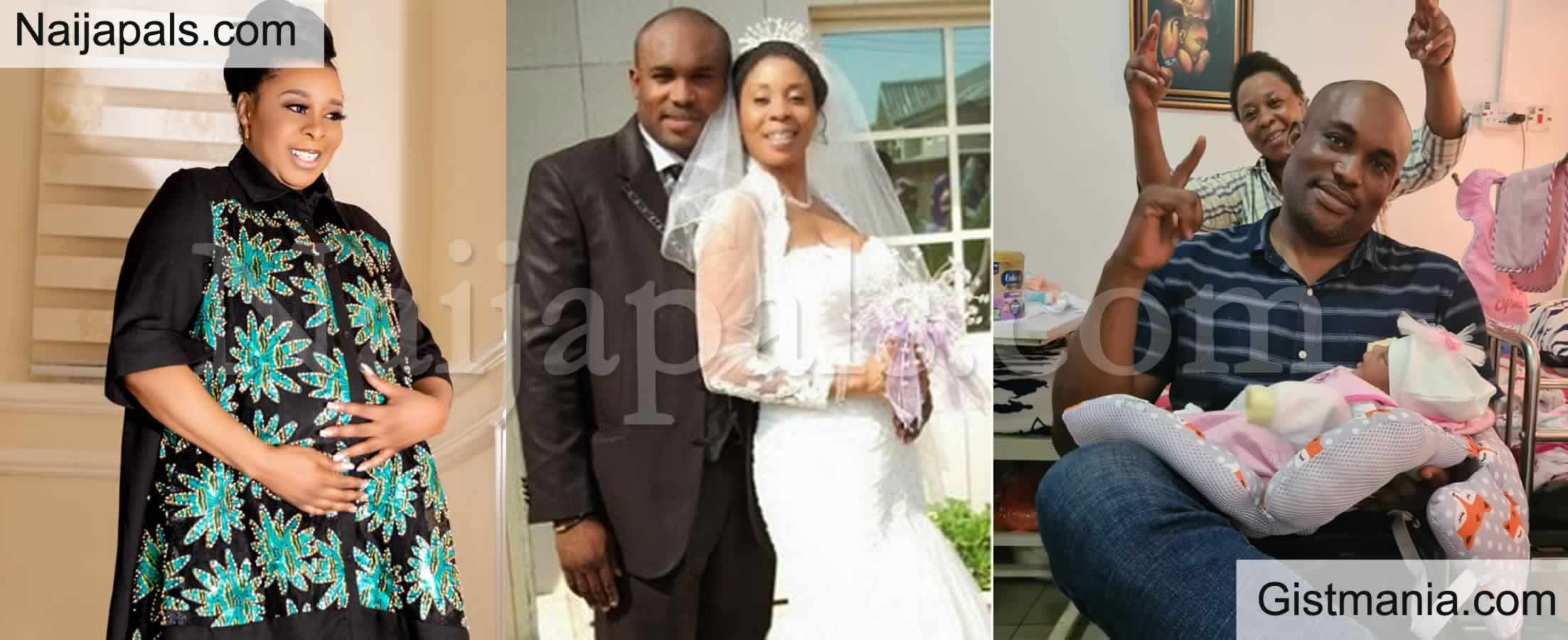 <img alt='.' class='lazyload' data-src='https://img.gistmania.com/emot/celeb.gif' /> PHOTOS: <b>After 10 Years of Marriage Ex Actress Tricia Eseigbe Welcomes First Child With Hubby</b>