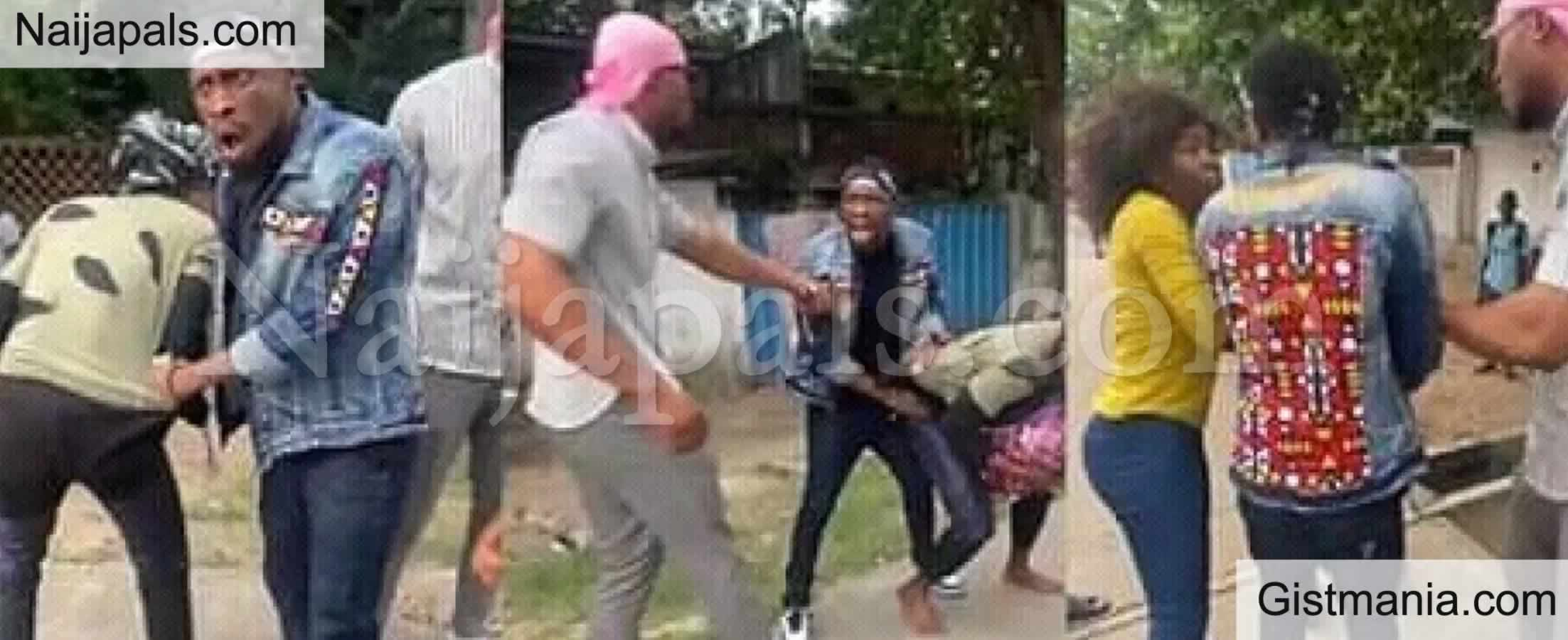 <img alt='.' class='lazyload' data-src='https://img.gistmania.com/emot/video.gif' /> Video: <b>Former BBnaija Housemate, Trikytee Caught On Camera Fighting Man Over N5000</b>