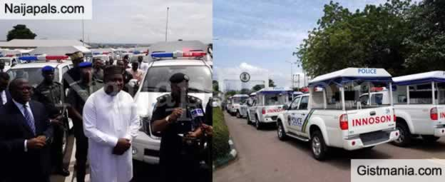 Photos: Enugu State Buys 100 Innoson Vans For Nigerian Police To Facilitates Security