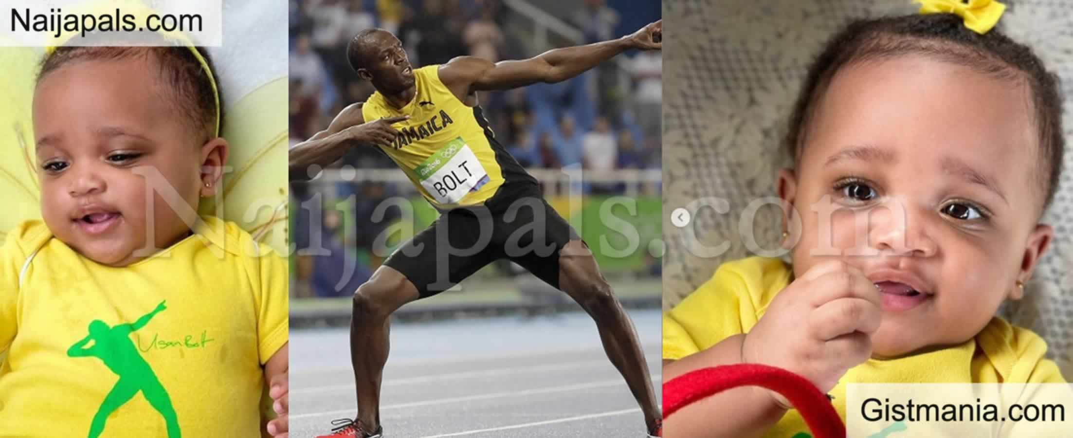 <img alt='.' class='lazyload' data-src='https://img.gistmania.com/emot/star.gif' /> Fastest Man Alive, <b>Usain Bolt Shares Photos Of His 8 Month Daughter. Olympia Lightning Bolt</b>