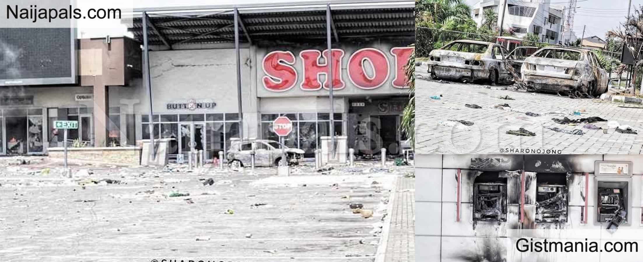 <img alt='.' class='lazyload' data-src='https://img.gistmania.com/emot/photo.png' /> PHOTOS: <b>Damages Caused By Hoodlums That Hijacked The #EndSARS Protests In Nigeria</b>