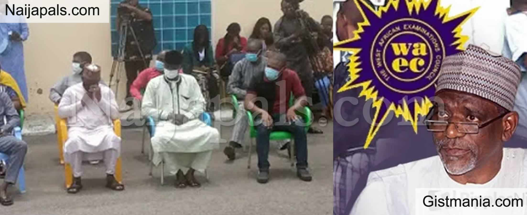 <img alt='.' class='lazyload' data-src='https://img.gistmania.com/emot/comment.gif' /> PHOTOS: <b>Over 15 Teachers, Supervisors, Principal Paraded By Police For WAEC Exam Malpractices</b>