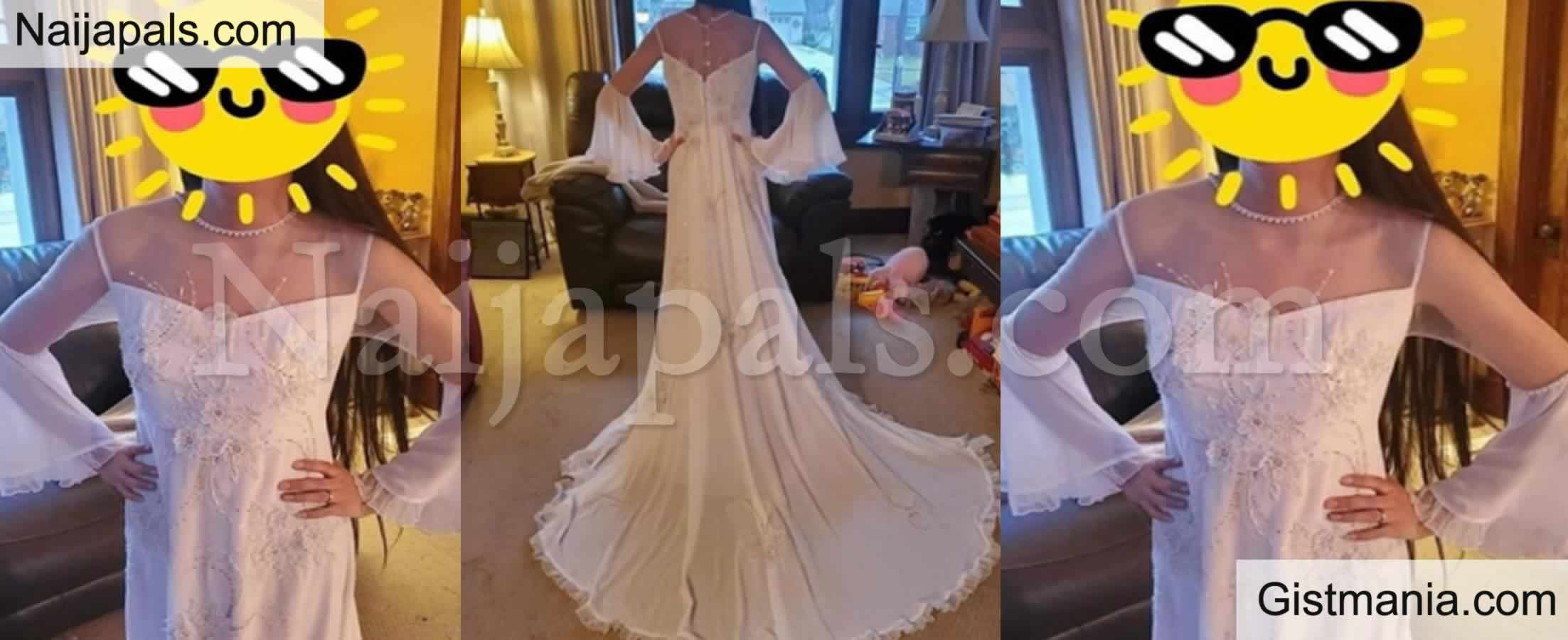 <img alt='.' class='lazyload' data-src='https://img.gistmania.com/emot/comment.gif' /> <b>Reactions As Lady Who Has No Plan of Marrying Shows Off a Wedding Dress She Bought For N10k</b>