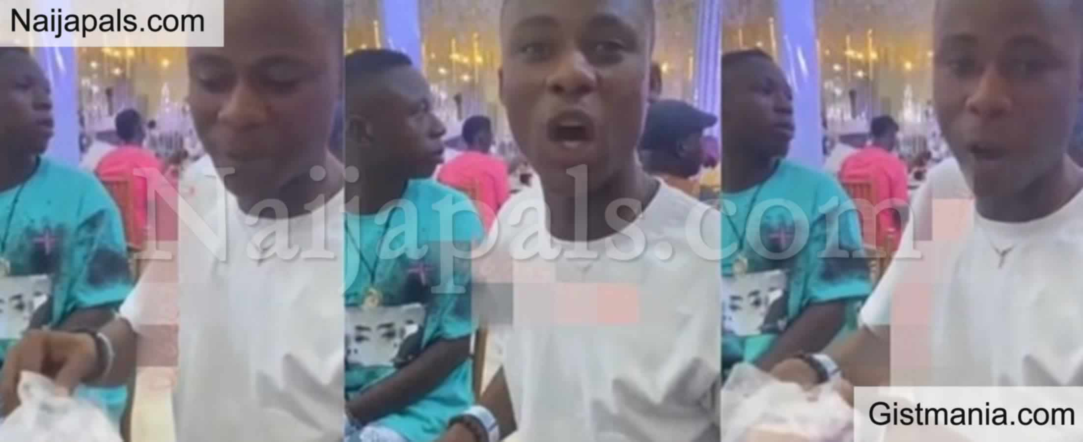 <img alt='.' class='lazyload' data-src='https://img.gistmania.com/emot/grin.gif' /> <b>Wedding Guest Refuses To Spray Money Because He Wasn't Served Food</b> (VIDEO)
