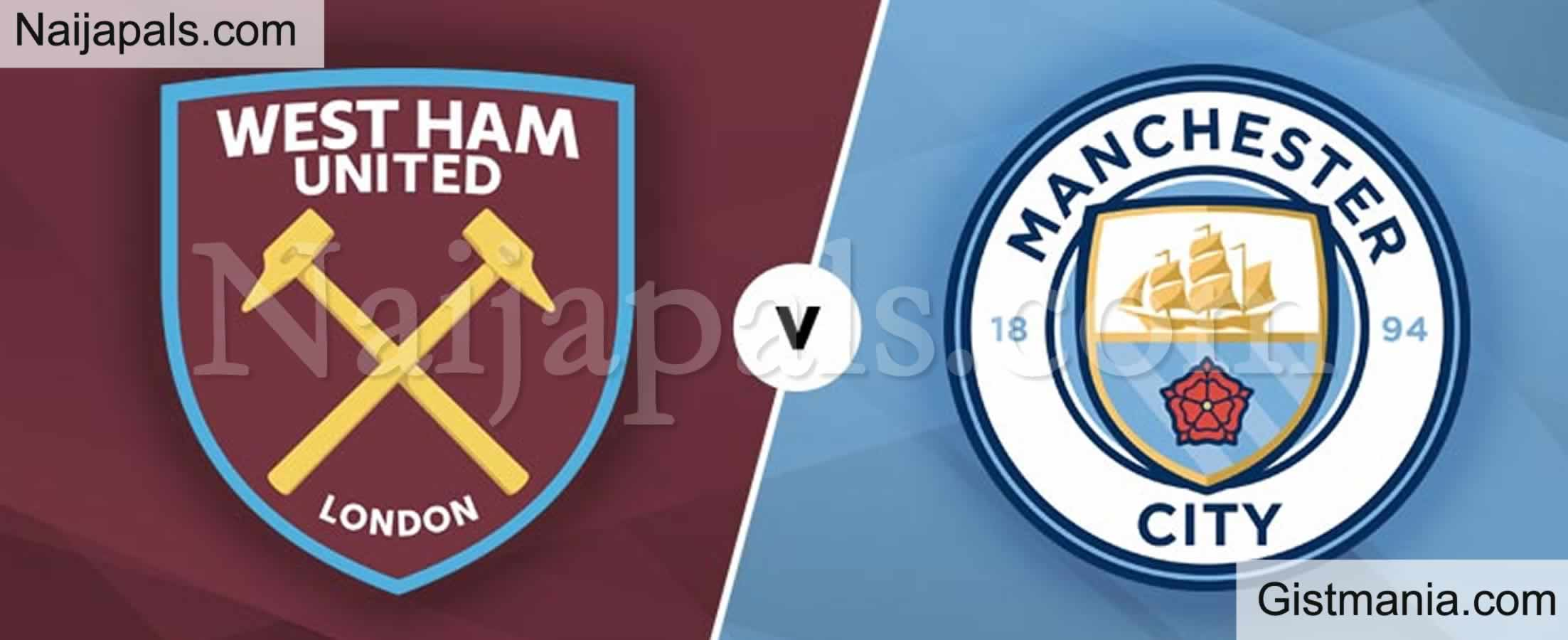 <img alt='.' class='lazyload' data-src='https://img.gistmania.com/emot/soccer.gif' /> <b>West Ham v Manchester City : English Premier League Match, Team News, Goal Scorers and Stats</b>