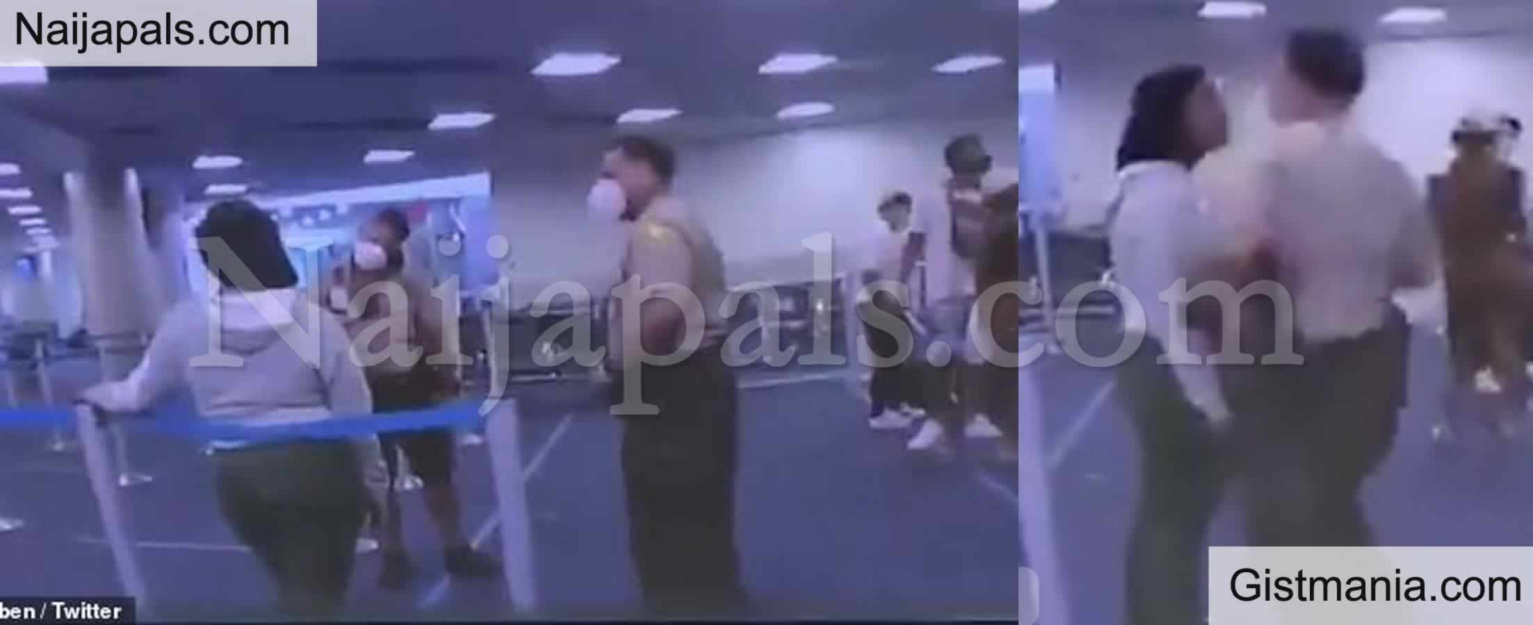 <img alt='.' class='lazyload' data-src='https://img.gistmania.com/emot/video.gif' /> RACISM! <b>Video Captures a White Police Man Punching a Black Woman At Miami Airport</b>