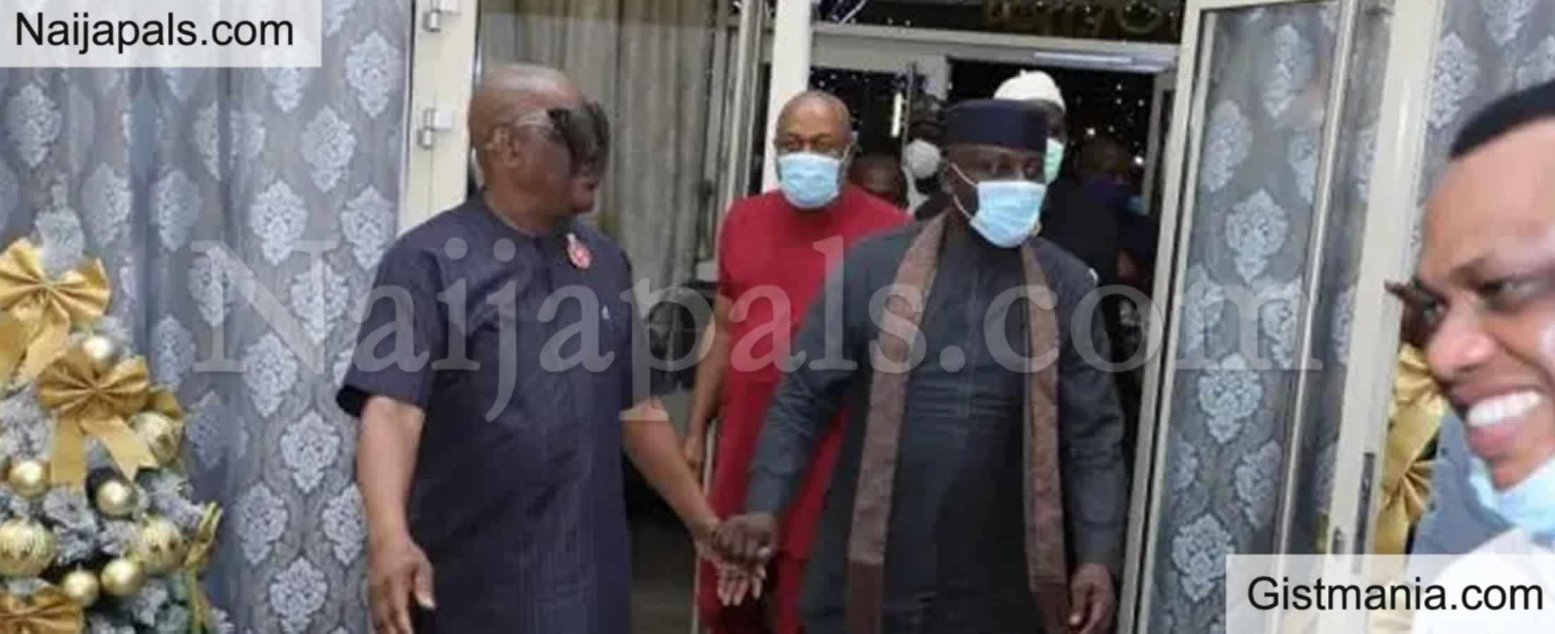 <img alt='.' class='lazyload' data-src='https://img.gistmania.com/emot/news.gif' /> <b>Ex Imo Gov. Rochas Okorocha Visits Rivers Gov. Nyesom Wike For The 2nd Time In A Month</b>