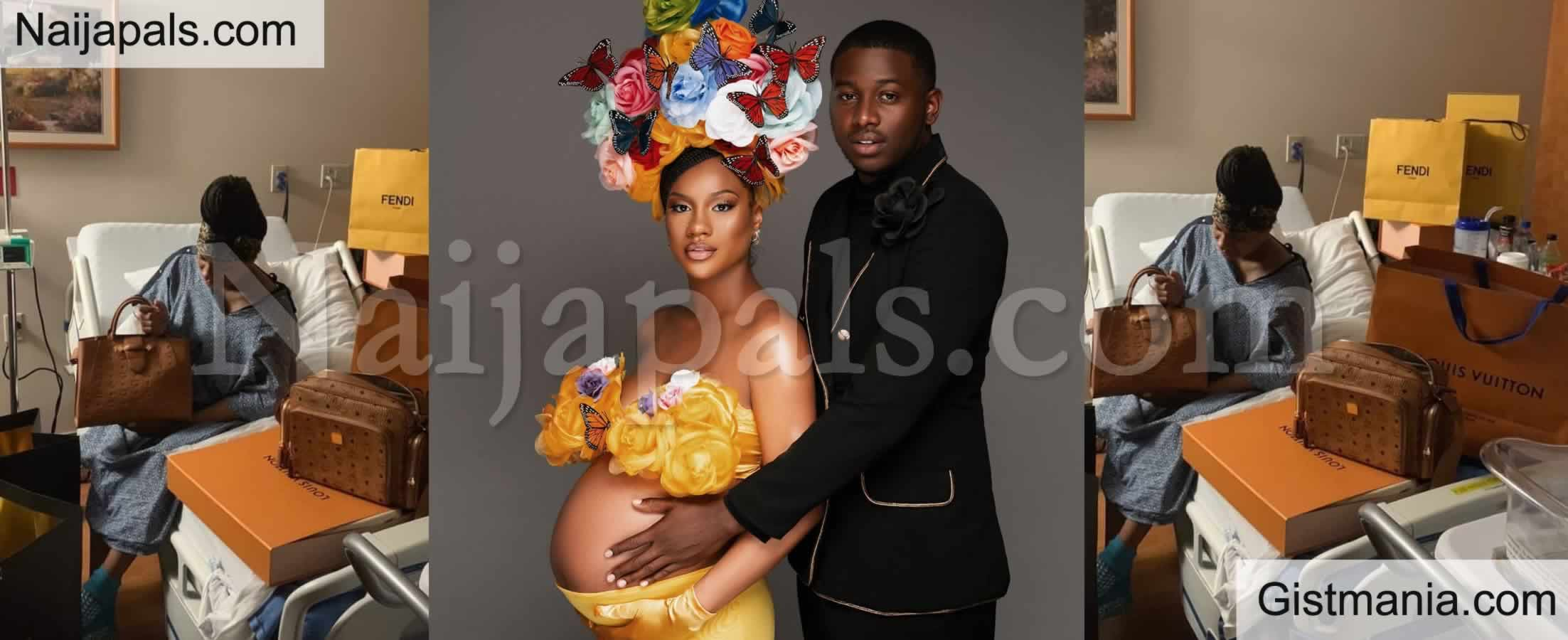 <img alt='.' class='lazyload' data-src='https://img.gistmania.com/emot/photo.png' /> Photos: <b>Man Appreciates Wife With Expensive Designer Bags For Giving Birth To Their Child</b>