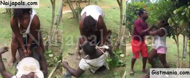 Watch shocking Video: Lady pulls off man's underwear, tries to rape him in public