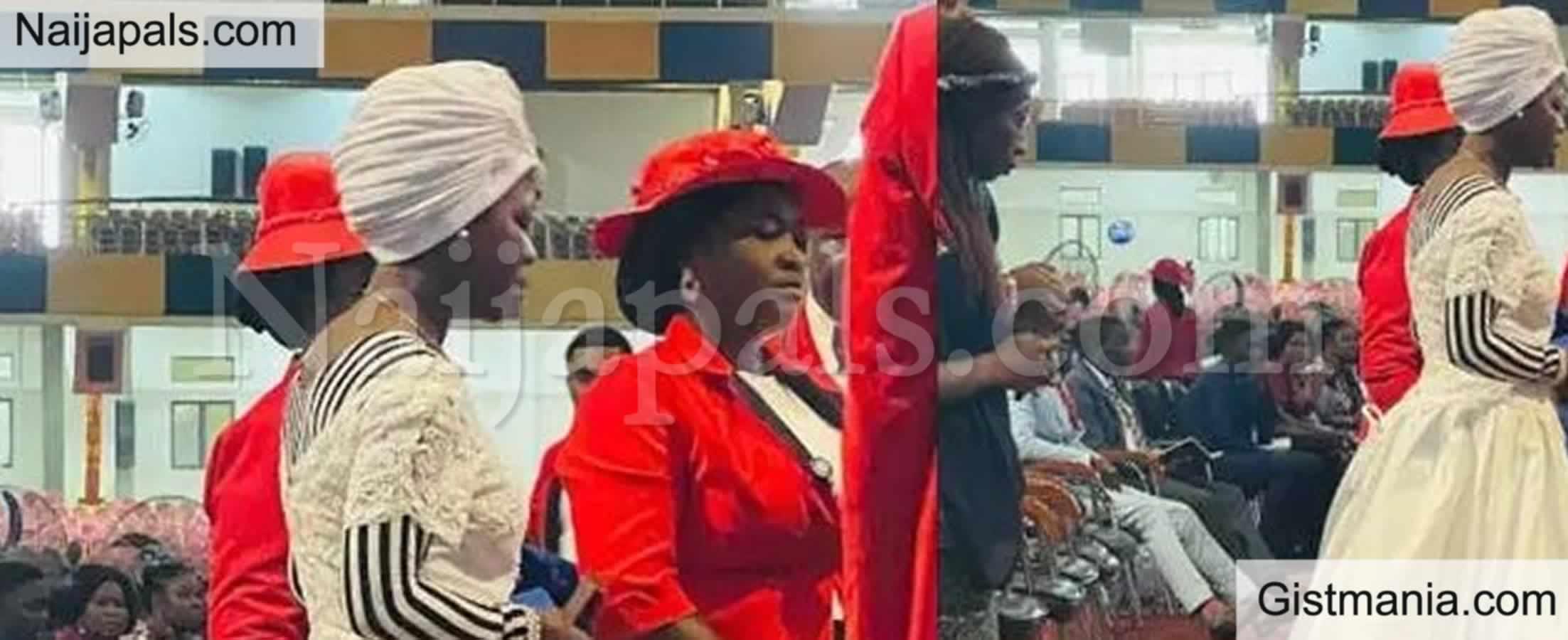 <img alt='.' class='lazyload' data-src='https://img.gistmania.com/emot/photo.png' /> <b>Woman Looking For Husband Wears Wedding Dress To Church </b>(PHOTO)