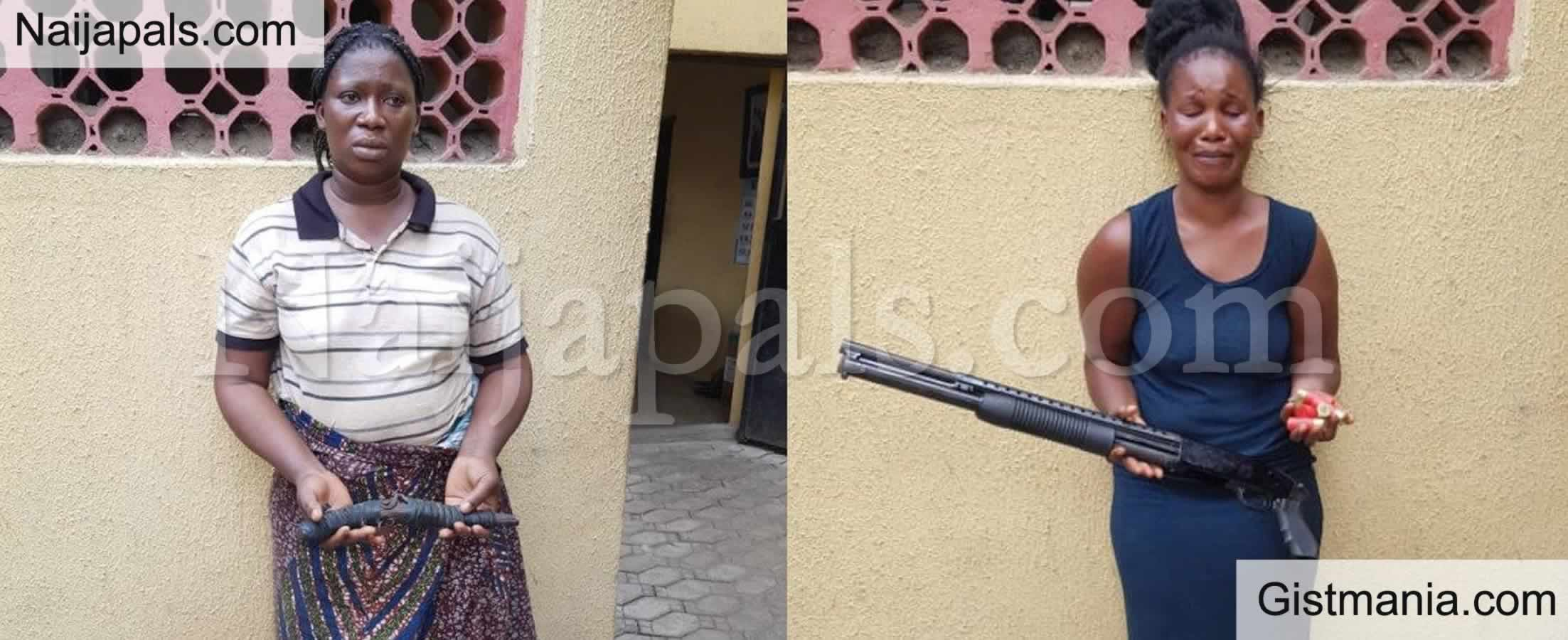 <img alt='.' class='lazyload' data-src='https://img.gistmania.com/emot/comment.gif' /> <b>Women Arrested With Guns As Police Parade 56 Suspected Cultists, Armed Robbers In Lagos</b>