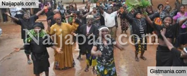 Over 100 Women Protests Half Naked Against Unlawful