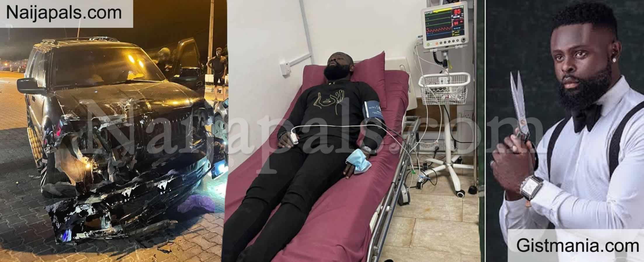 <img alt='.' class='lazyload' data-src='https://img.gistmania.com/emot/comment.gif' /> Comedian AY Makun's Brother, <b>Yomi Casual Survives Terrible Road Crash </b>(Photos)
