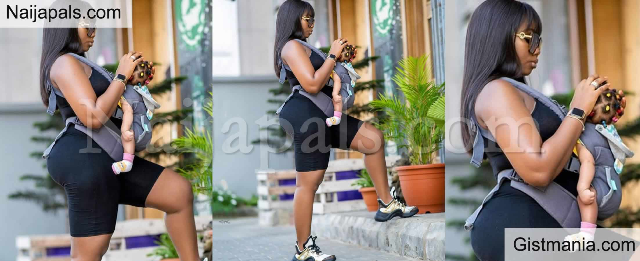 <img alt='.' class='lazyload' data-src='https://img.gistmania.com/emot/kiss.gif' /> Yummy Mummy! BBNaija Star, <b>Bambam Steps Out in Style With Baby Zendaya</b>
