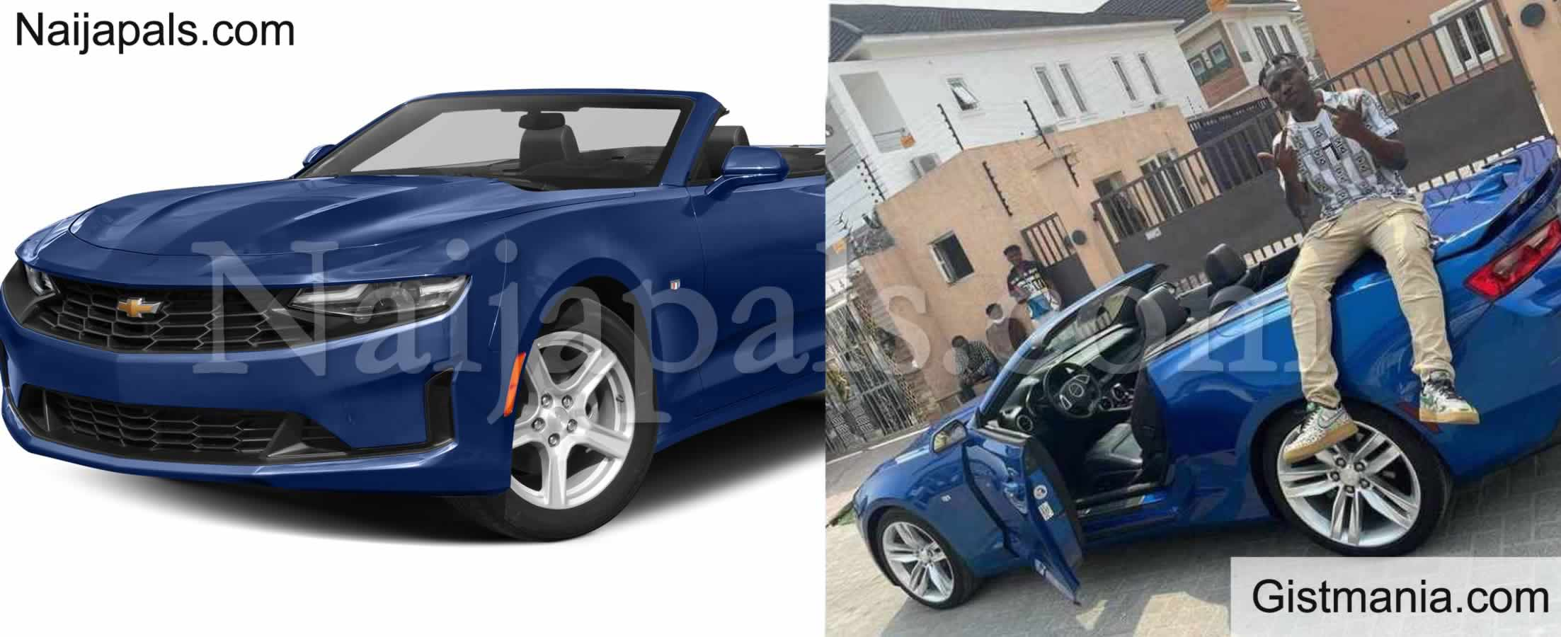 <img alt='.' class='lazyload' data-src='https://img.gistmania.com/emot/thumbs_up.gif' /> PHOTOS: Zanku Master, <b>Zlatan Ibile Acquires For Himself a N20M Chevrolet Camaro Convertible</b>